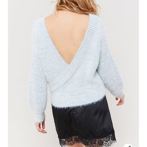 NWT UO Open back sweater
